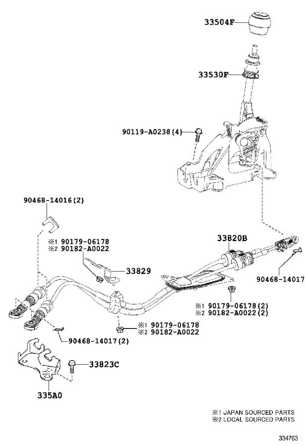 Toyota Corolla Boot, shift lever. Transmission, driveline