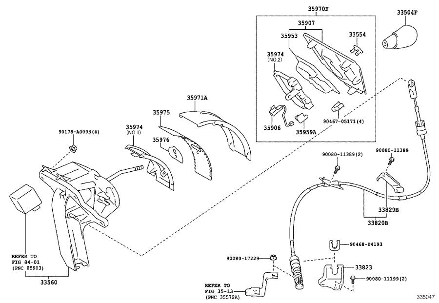 Toyota Sienna Housing assembly, position indicator. Lt