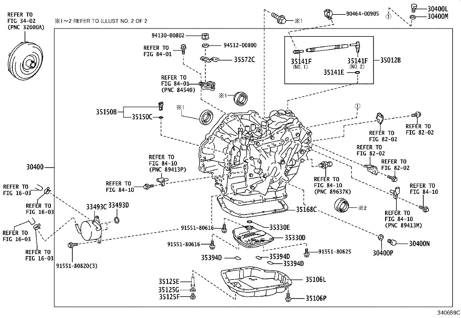 Toyota Corolla iM Transaxle assembly, continuously