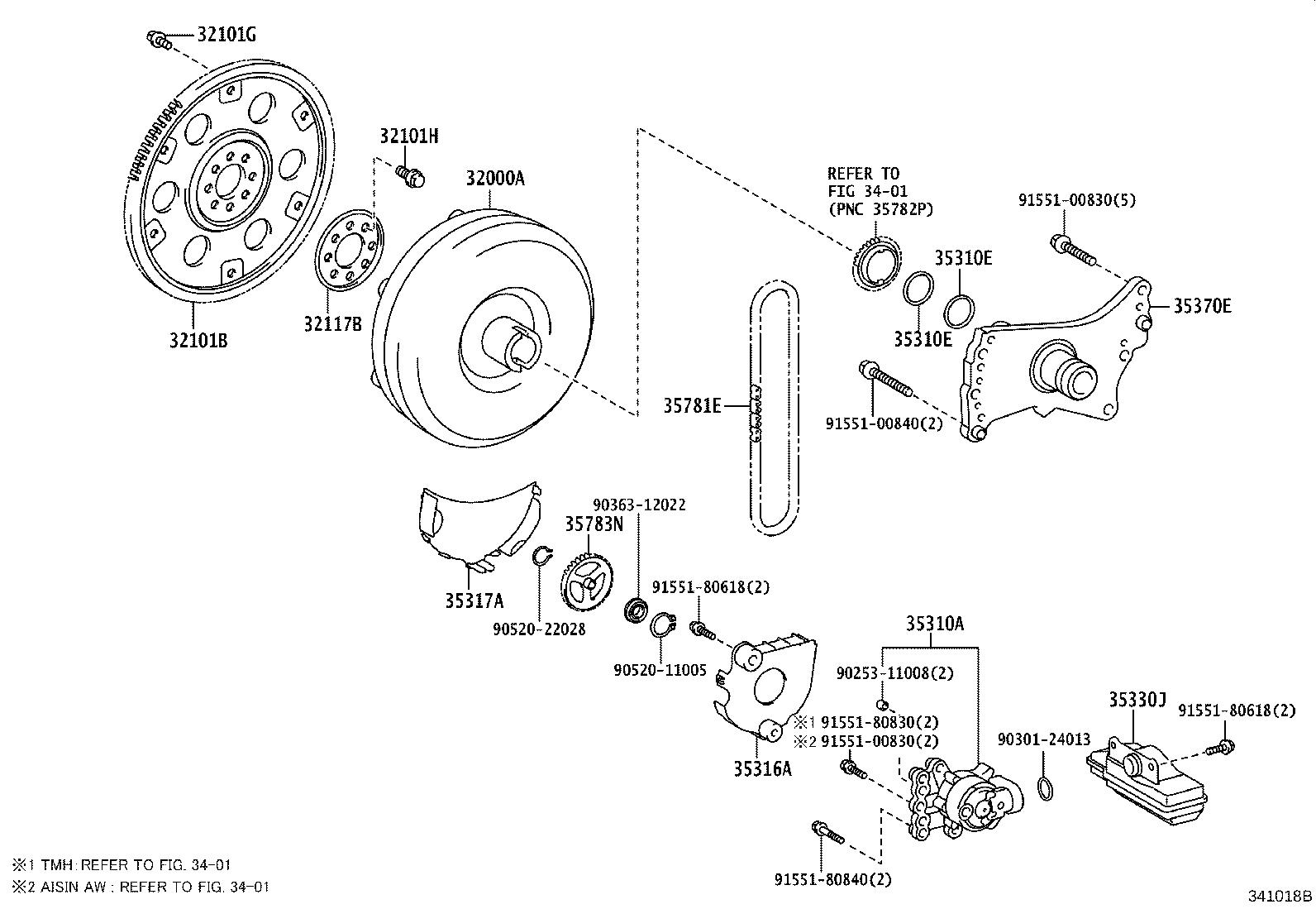 Toyota Corolla Gear sub-assembly, drive plate & ring. Cvt