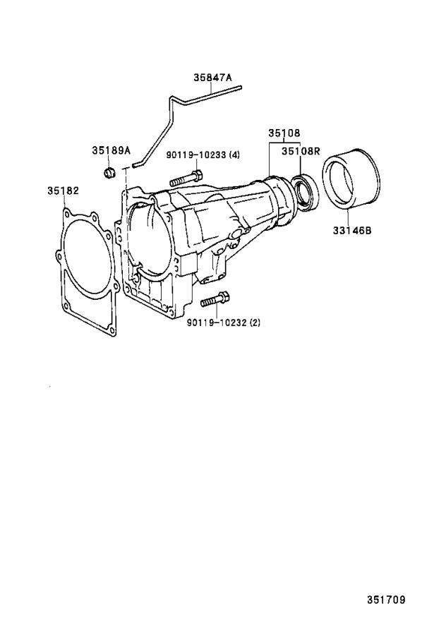 Toyota Tundra Housing sub-assembly, extension (atm