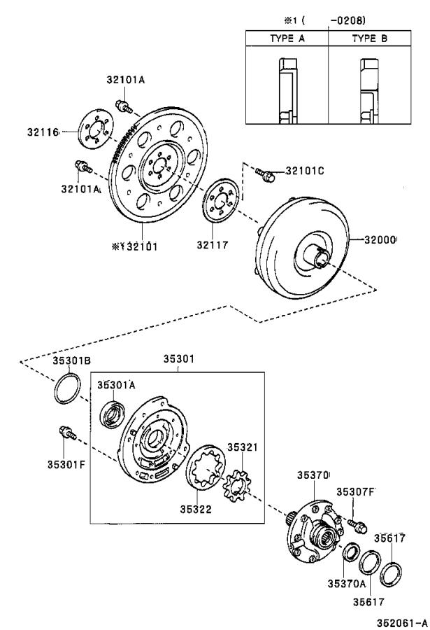 Toyota Echo Converter assembly, torque. Transmission, atm