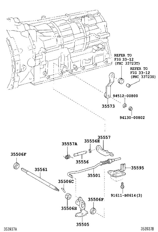 Toyota Land Cruiser Lever sub-assembly, manual valve