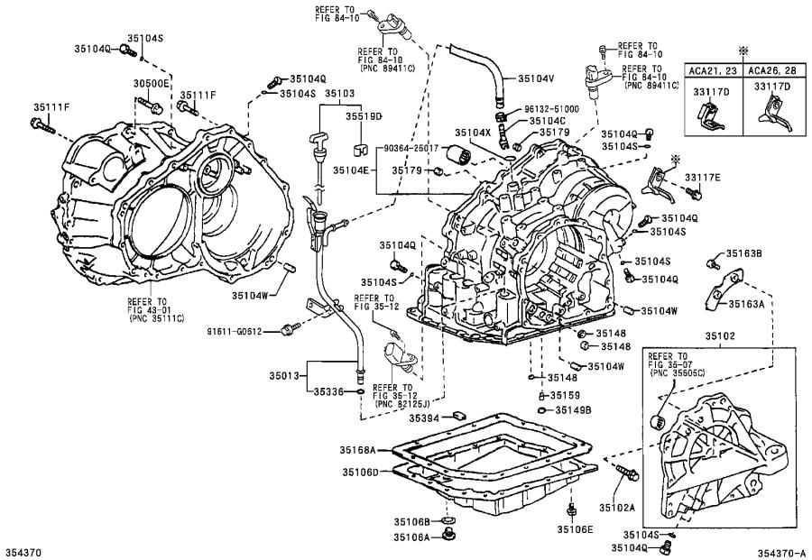 Toyota RAV4 Tube sub-assembly, transmission oil filler