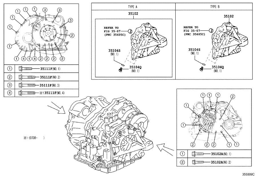 Toyota Avalon Case sub-assembly, automatic transaxle