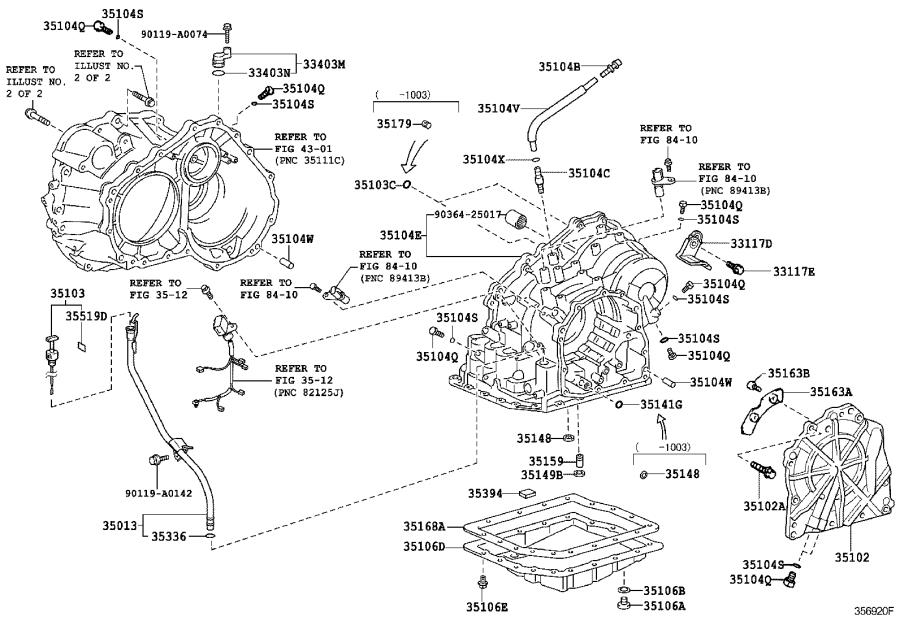 Toyota RAV4 Case sub-assembly, automatic transaxle. Atm