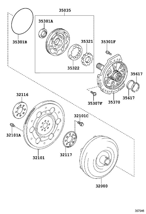Toyota Camry Shaft assembly, stator. Transmission