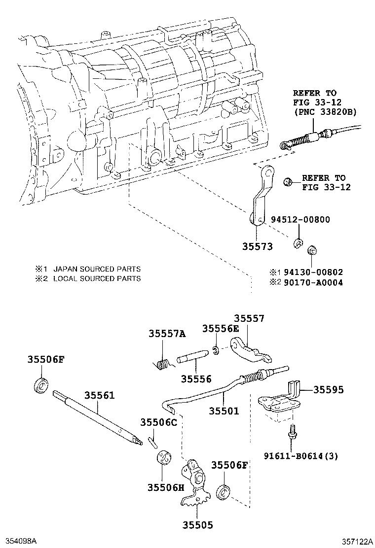 Toyota 4Runner Lever sub-assembly, manual valve