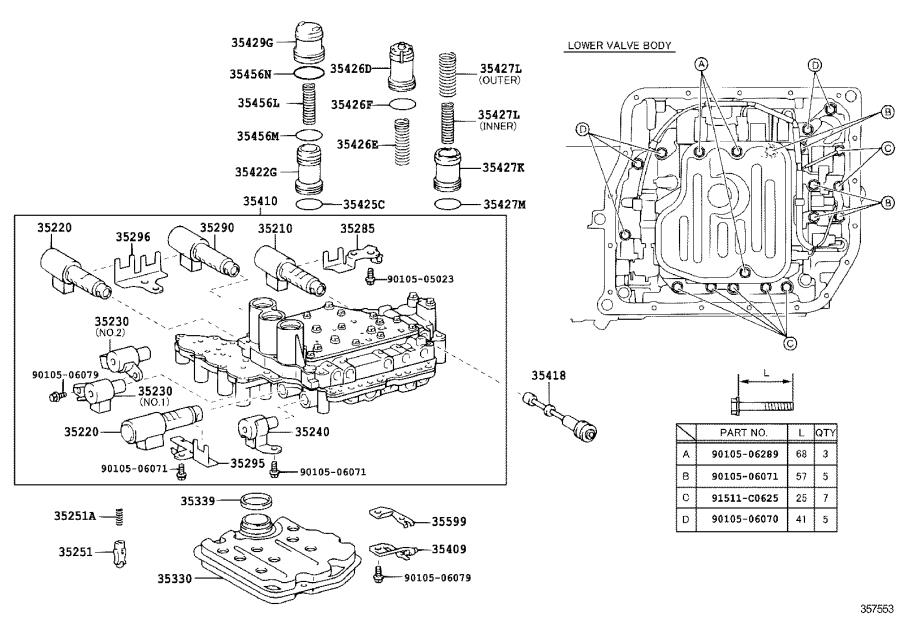 Toyota Camry Solenoid assembly, clutch control, no. 2