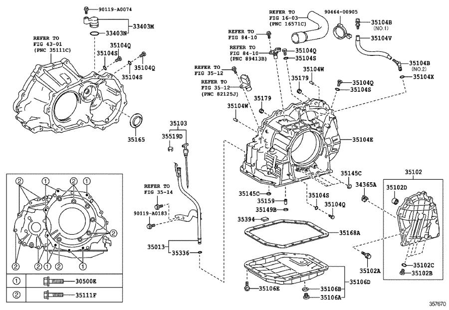 Toyota Matrix Tube sub-assembly, transmission oil filler