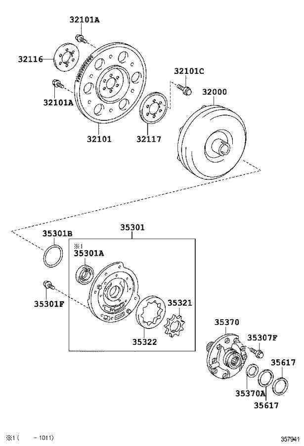 Toyota Yaris Automatic Transmission Torque Converter