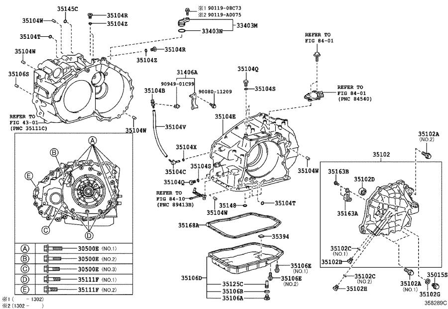 Toyota Sienna Case sub-assembly, automatic transaxle