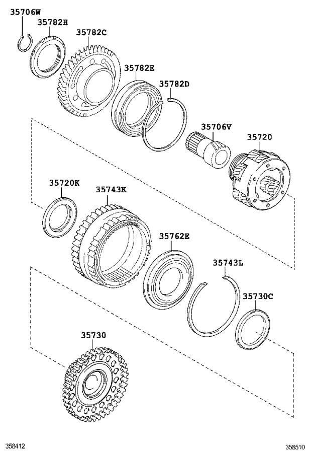 Toyota Highlander Gear, front planetary ring. Transmission