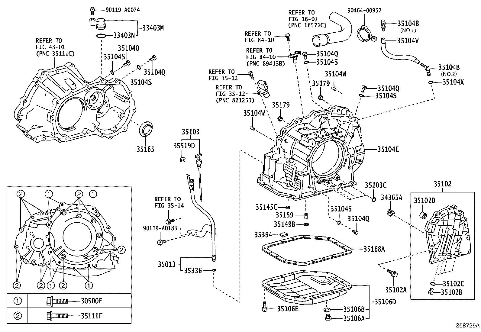 Toyota Corolla Case sub-assembly, automatic transaxle. Atm