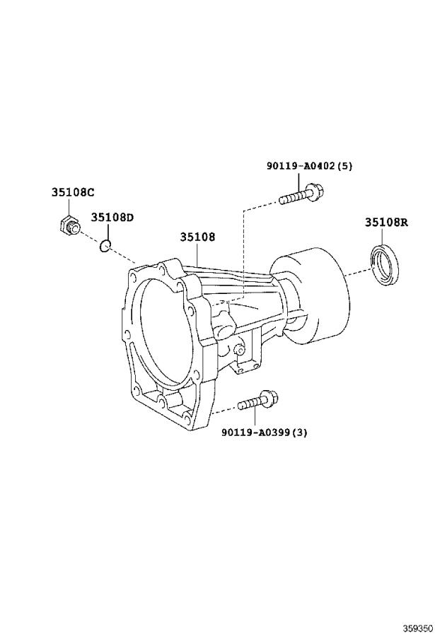 Toyota Tacoma Automatic Transmission Extension Housing