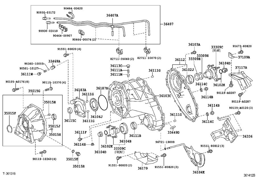 Toyota Sequoia Hose sub-assembly, transfer breather