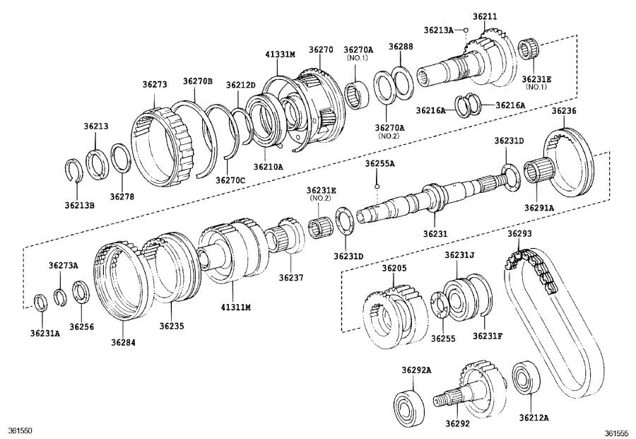 Toyota 4Runner Case, center differential. Package, edition