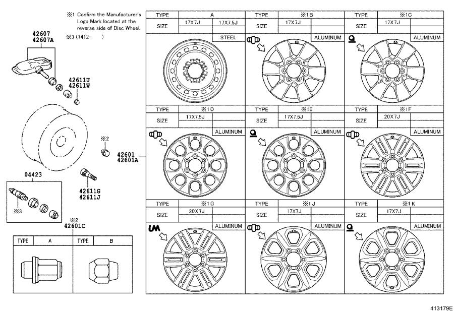 Toyota 4Runner Ornament sub-assembly, wheel hub