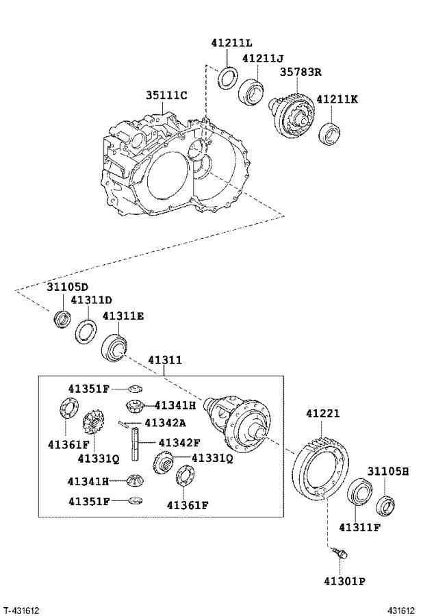 Toyota Avalon Pinion, differential drive. Suspension