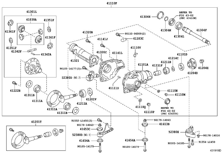 Toyota Land Cruiser Differential Housing Support. Brakes