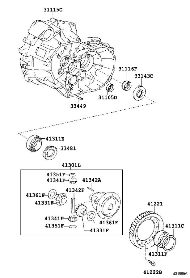 Toyota Corolla Manual Transmission Differential (Front