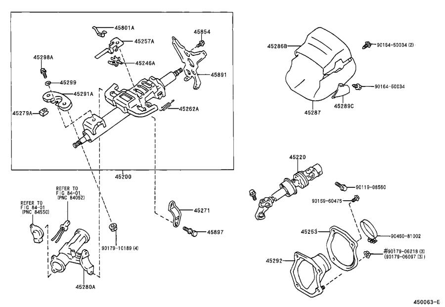 Toyota Camry Steering Column Cover (Upper). SAGE, Brakes