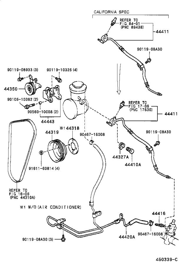 Toyota 4Runner Tube assembly, pressure feed. Suspension