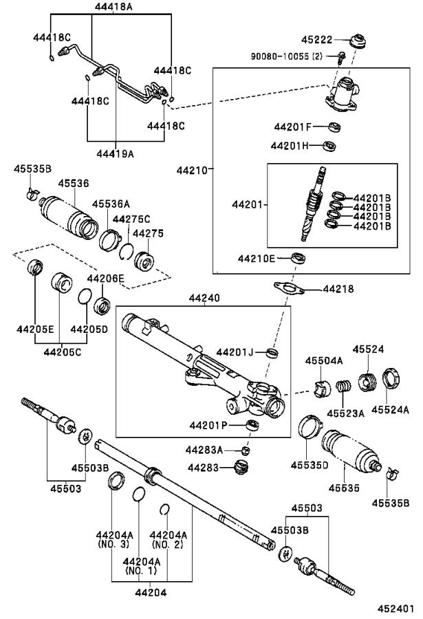 Toyota Sequoia Rack and Pinion Control Valve. Valve, Power