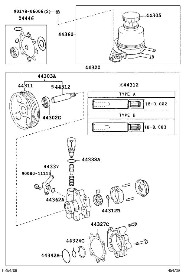 Toyota Tundra Power Steering Pump Pulley. Pulley, Vane