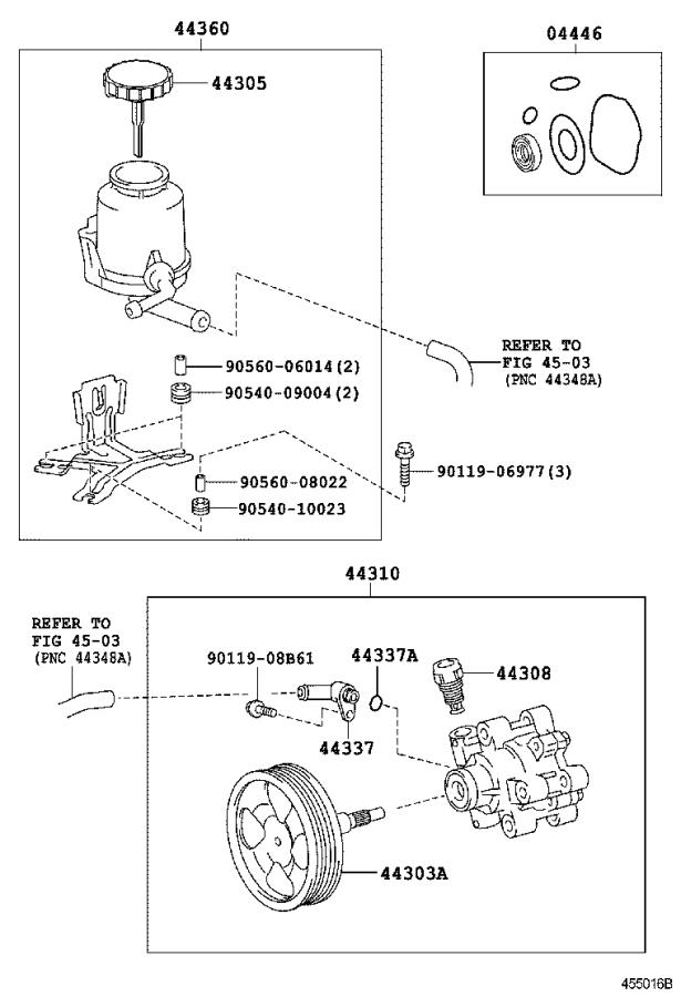 Toyota Land Cruiser Power Steering Pump. Pump, Vane