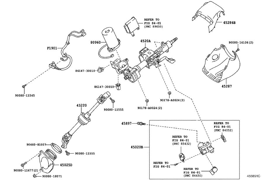 Toyota Camry Column sub-assembly, electric power steering