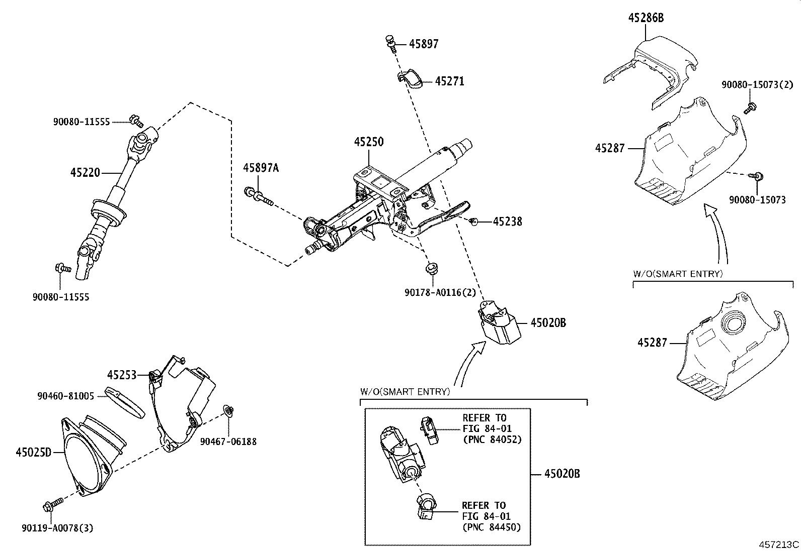 Toyota Camry Steering Column Brakes Suspension Shaft