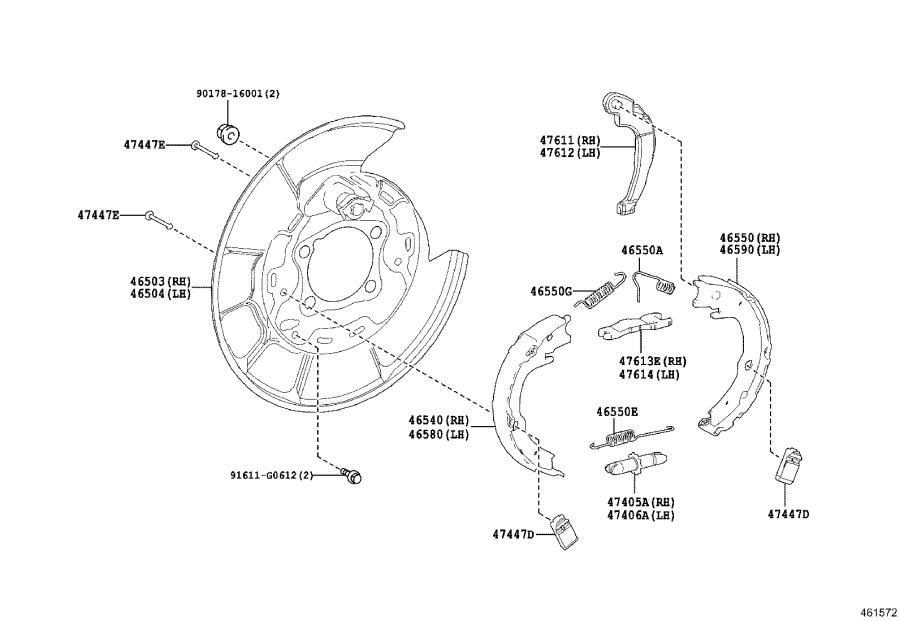 Toyota Camry Parking Brake Cable Diagram