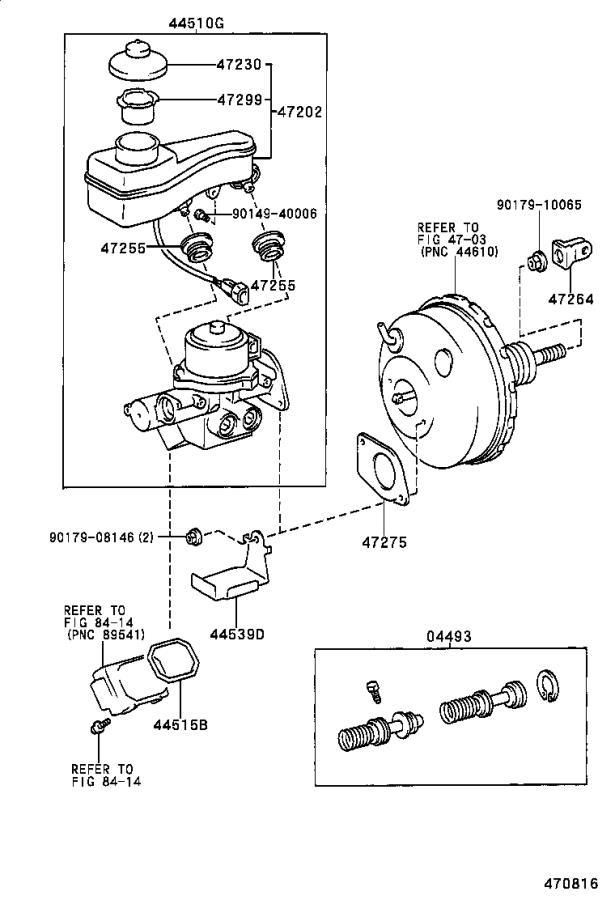 Toyota Corolla Cylinder kit, brake master. Suspension