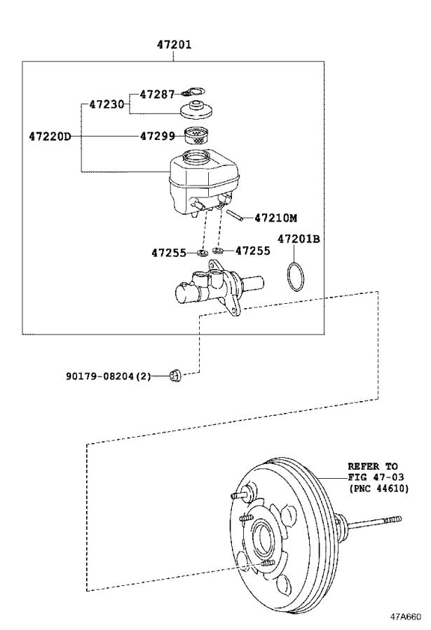 Toyota 4Runner Abs hydraulic. Brake booster, with master