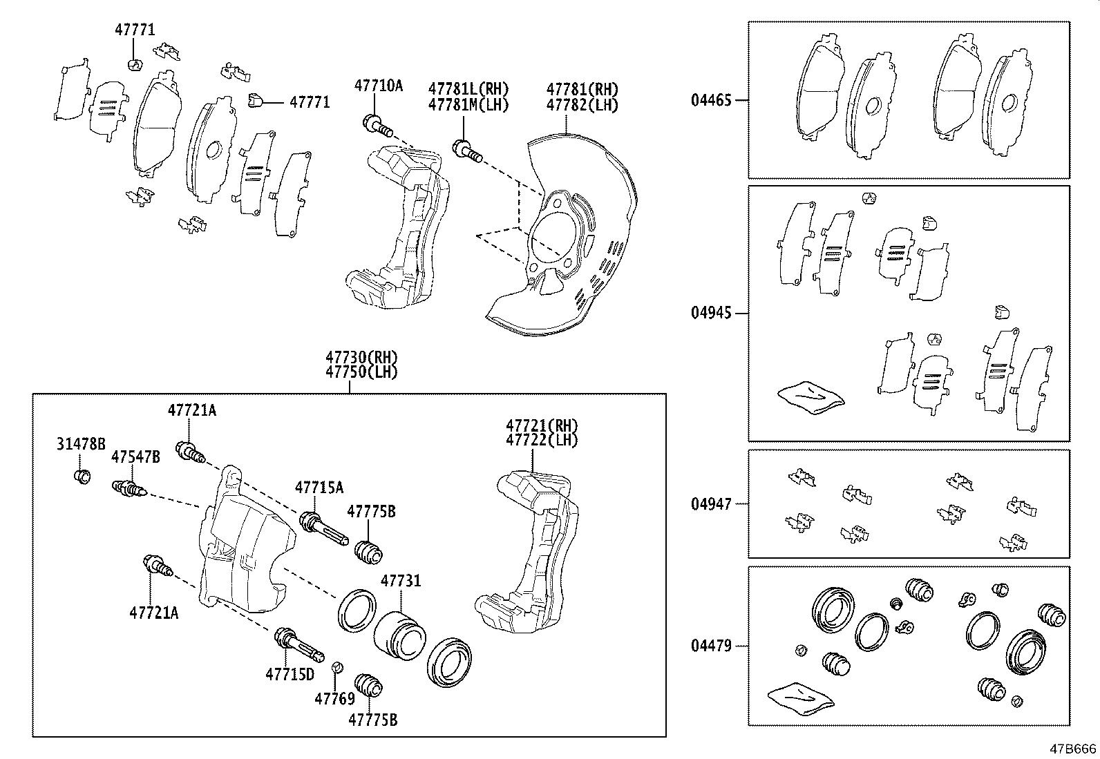 Toyota Corolla Shim Kit Anti Squeal Front Suspension