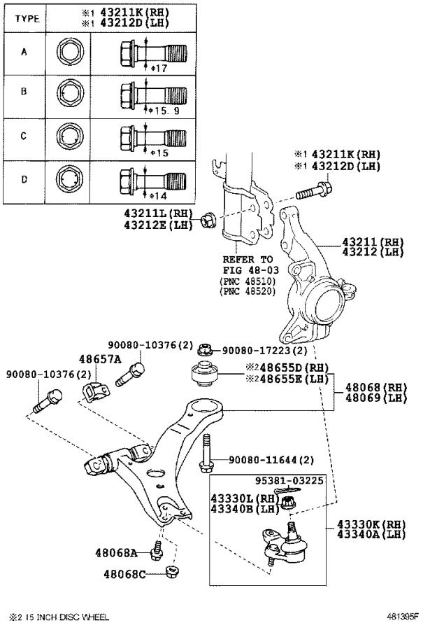 Toyota Camry Steering Knuckle (Right). Suspension, ABS