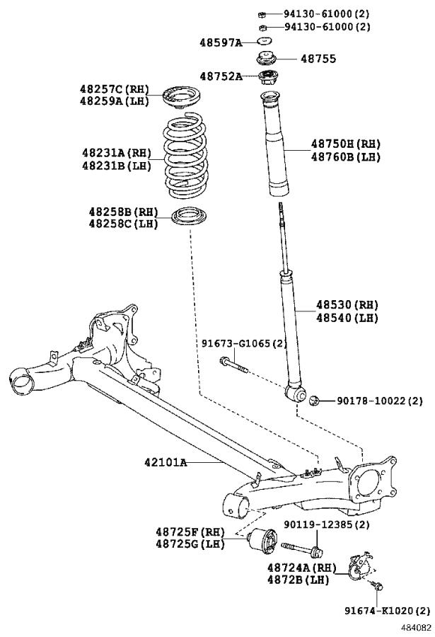 Toyota Yaris Beam sub-assembly, rear axle. Suspension