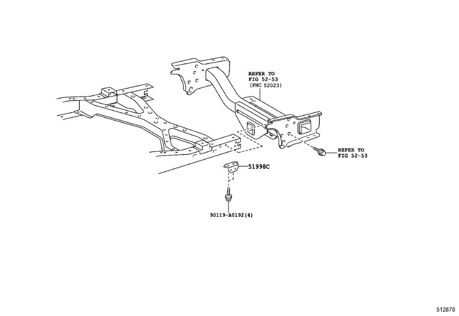Toyota Tacoma Bracket, front suspension member, left. Body