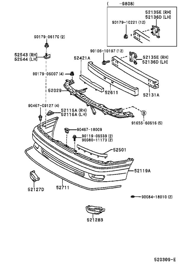 Toyota Avalon Reinforcement sub-assembly, front bumper