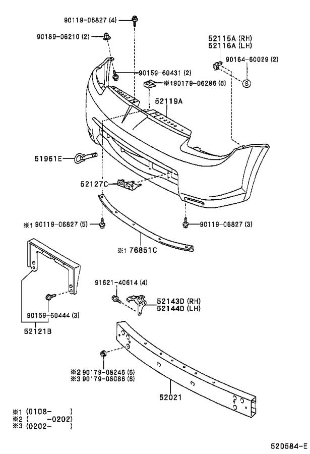 Toyota MR2 Bumper Cover Reinforcement Beam (Front). Body