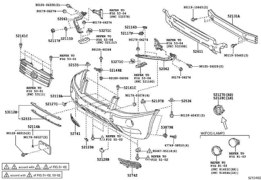Toyota Highlander Support sub-assembly, front bumper side
