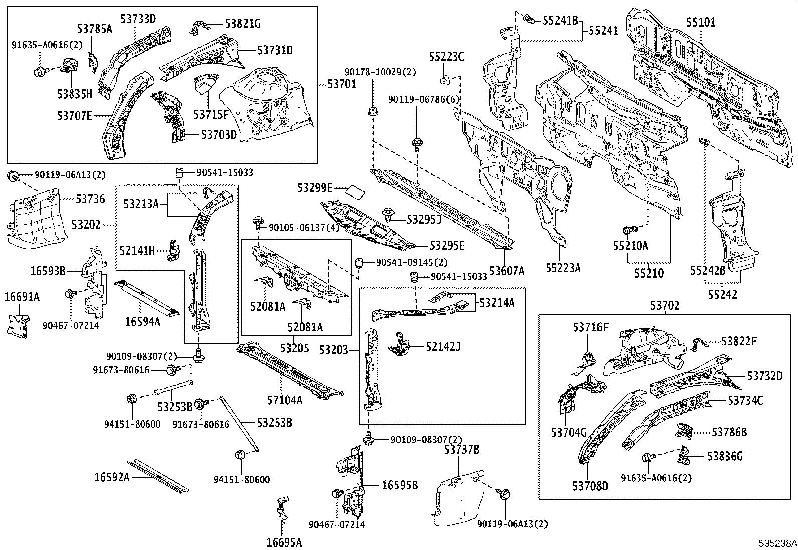 Toyota Camry Member sub-assembly, front cross. Body