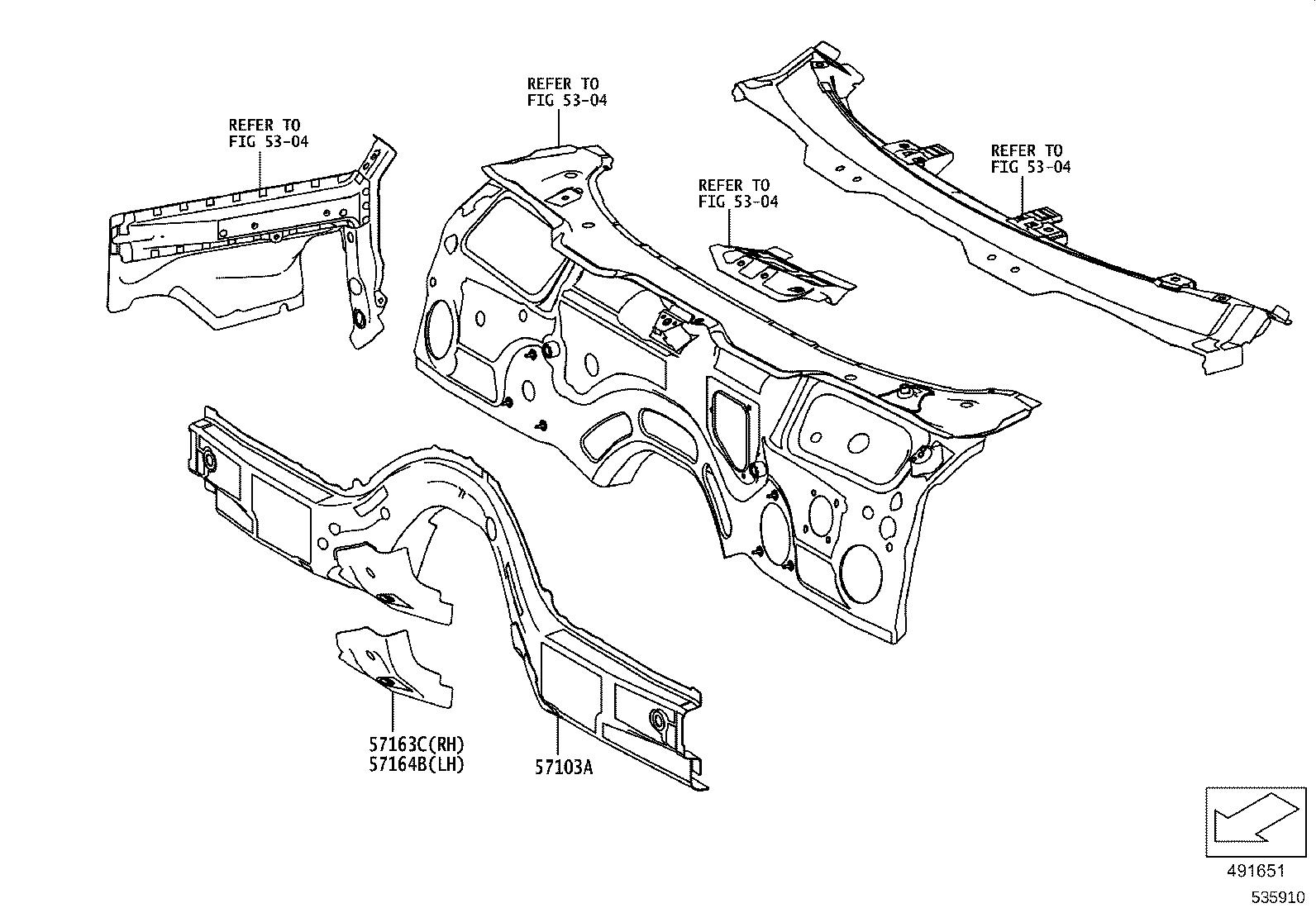 Toyota Supra Reinforcement Sub Assembly Rear Floor Side