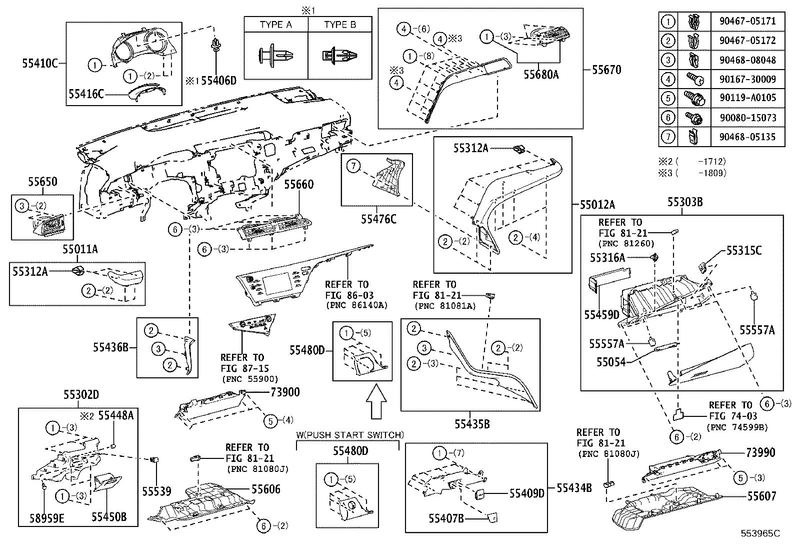 Toyota Camry Brace sub-assembly, instrument panel to cowl