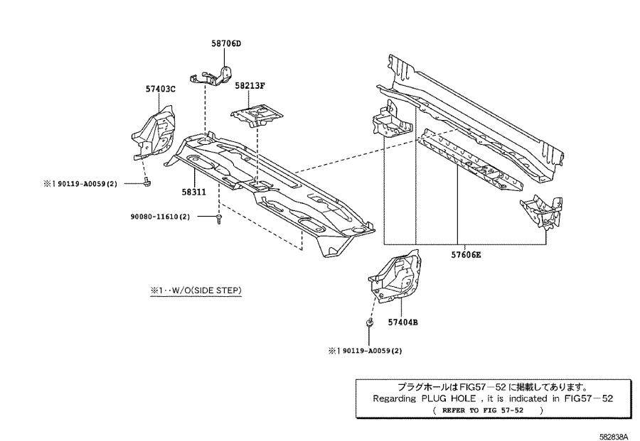 Toyota Tundra Member sub-assembly; reinforcement. Center