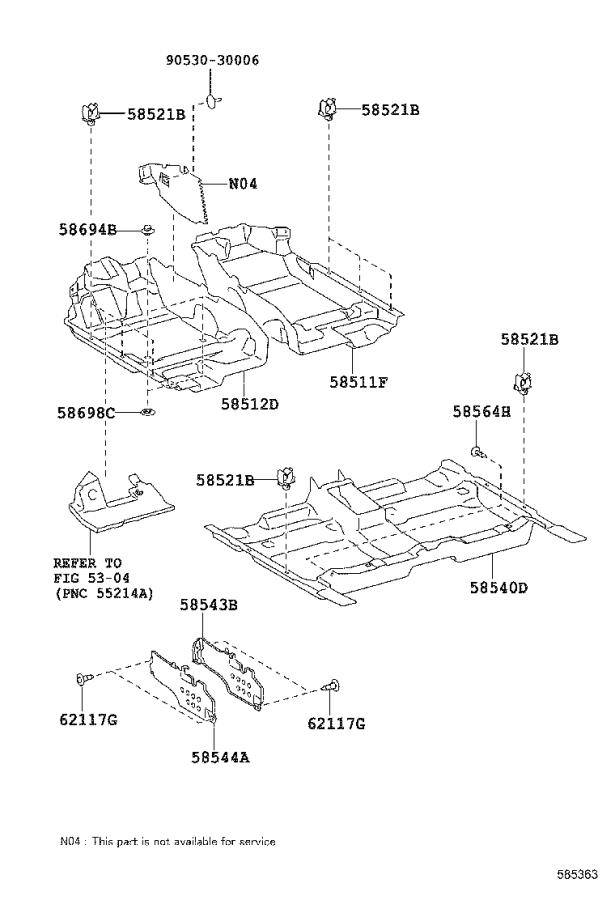 Toyota Camry Carpet assembly, floor, front. Black