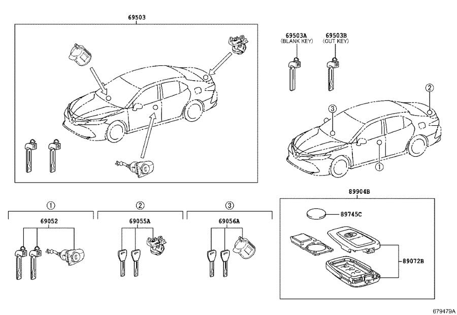 Toyota Camry Transmitter sub-assembly, electrical key