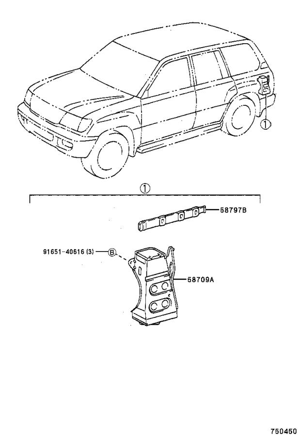 Toyota Land Cruiser Carrier sub-assembly, jack. Body