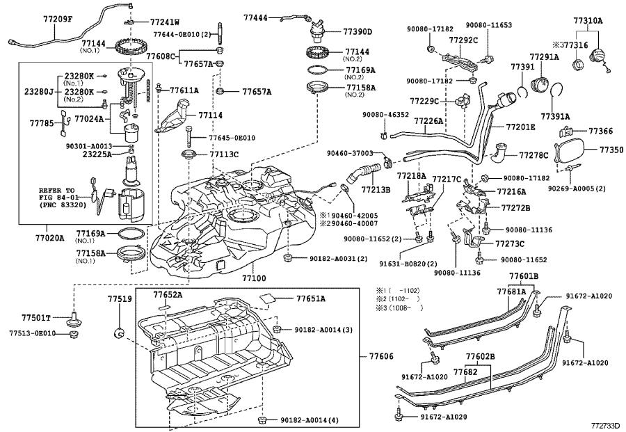 Toyota Highlander Valve assembly, fuel tank over fill
